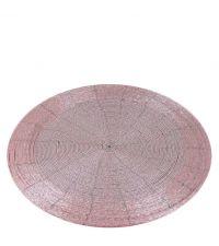rundes Tischseit aus Perlen, rosa