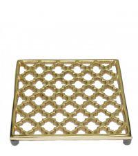 Topf-Untersetzer aus Metall mit Trellis-Muster