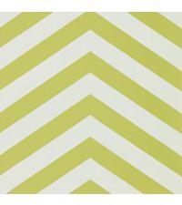 Tapete im Zickzack-Muster in den Farben weiß und grüngelb