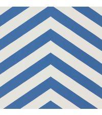 Tapete im Zickzack-Muster in den Farben weiß und blau