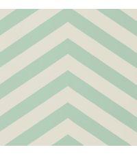 Tapete im Zickzack-Muster in den Farben weiß und türkis/mint