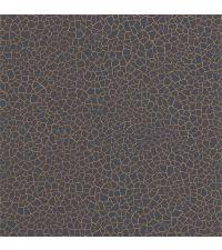 Vliestapete mit Crackle-Muster mit metallisch schimmernder Musterung in Kupfer