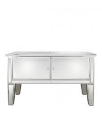 elegantes verspiegeltes Sideboard mit silberfarbener Umrandung