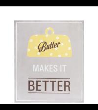 Wandbild Butter Motiv Küche Poster Shabby