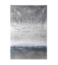 riesiges Leinwandbild mit Farbverlauf von grau bis blau mit Vogelmotiven