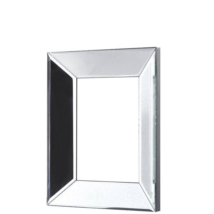 edler Bilderrahmen aus klarem Spiegelglas mit abgeschrägten Kanten