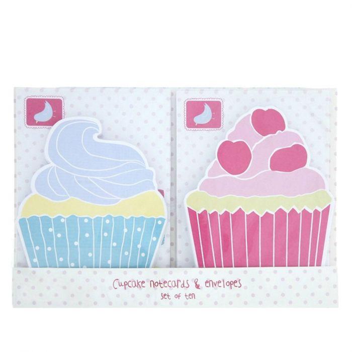 Postkarten In Cupcake Form 10 Stk Mit Briefumschlag