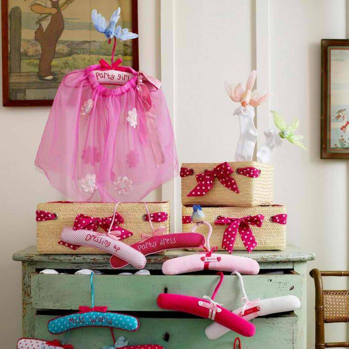 3 Kinder-Kleiderhaken Velvet aus Samt Märchen-Kleiderhaken pink rosa ...