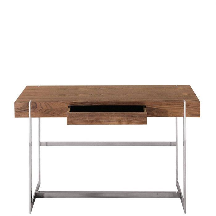 Kleiner Moderner Schreibtisch Newport Nussbaum Furniert Mit