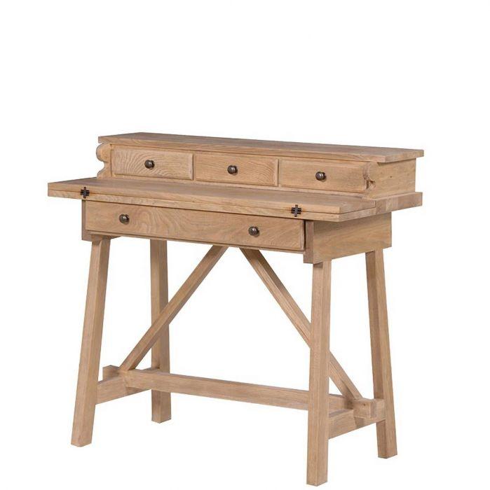 Kleiner Sekretär Schreibtisch Mit Ausklappbarer Tischplatte Eiche