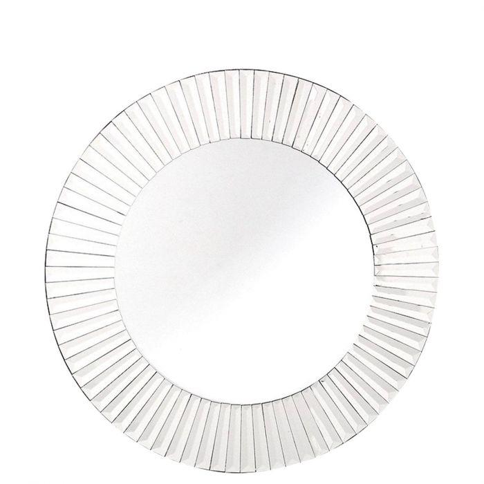 runder Spiegel Rahmen aus Spiegelfacetten