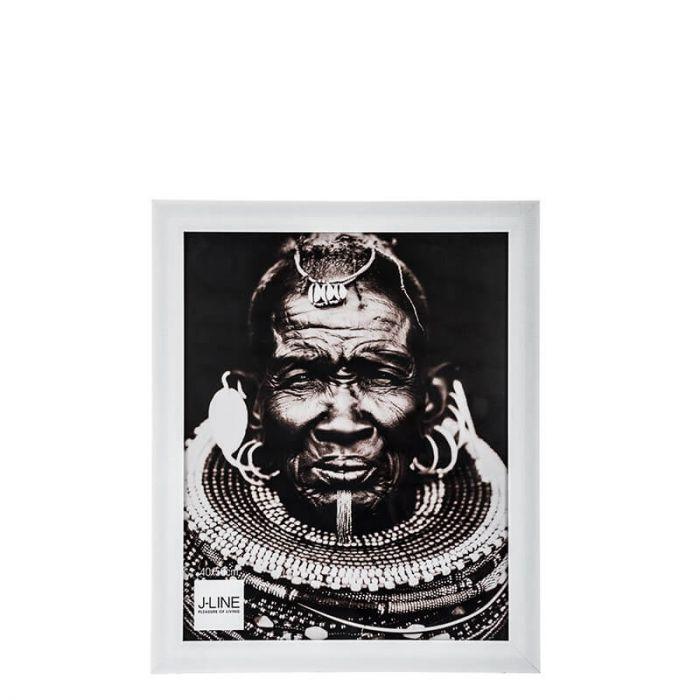 Klassischer, weißer Bilderrahmen aus Kunststoff