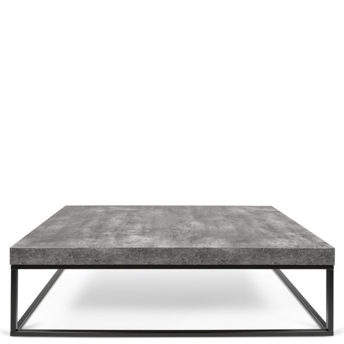Berühmt rechteckiger Couchtisch Tischplatte in Beton-Optik Füße aus Metall DK62