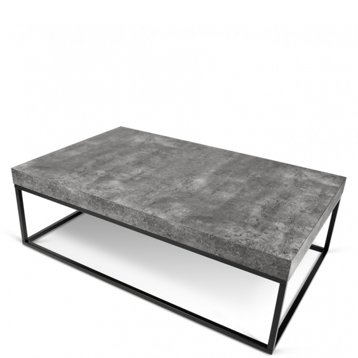 Rechteckiger Couchtisch Tischplatte In Beton Optik Fusse Aus Metall