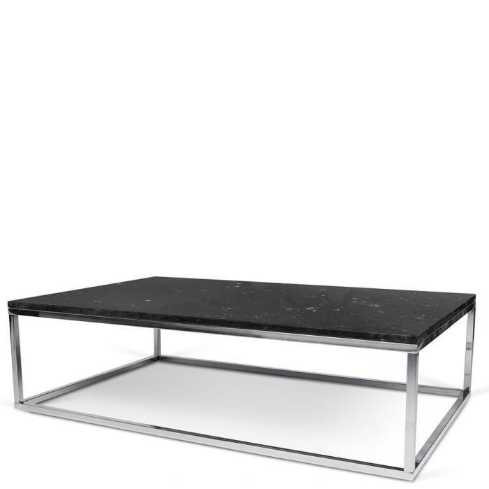 Rechteckiger Couchtisch Tischplatte Aus Schwarzem Marmor Fusse Aus