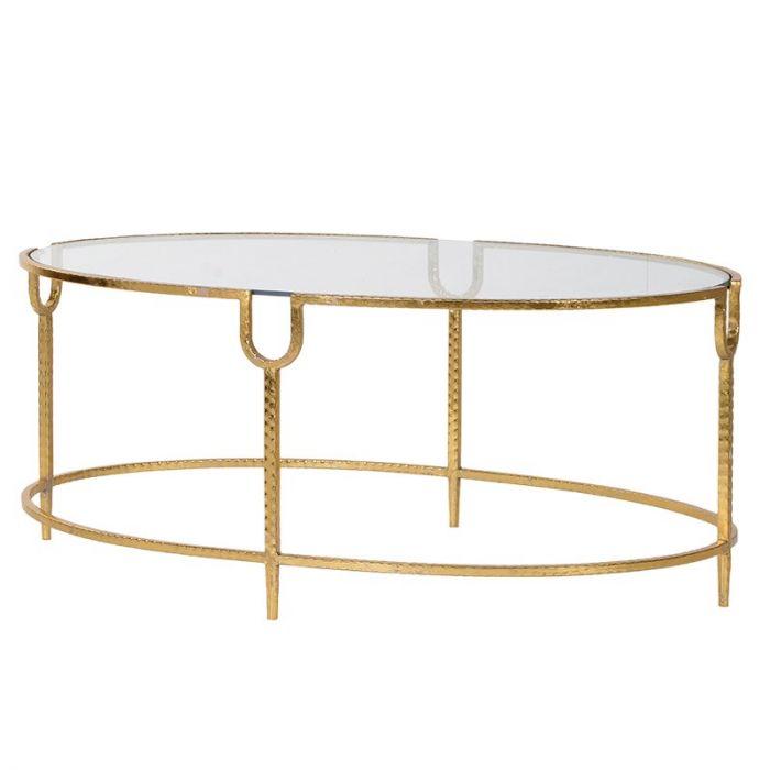 Langer Couchtisch Im Art Deco Stil Mit Goldenem Rahmen Und Fussen