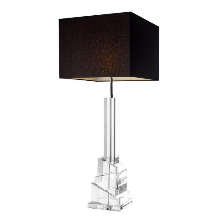 luxuriöse, hohe Tischleuchte aus klarem Kristallglas von Eichholtz ...