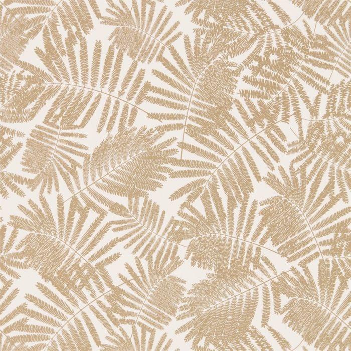 Tapete mit Farnmuster in beige & gold Espinillo Paper/Richgold ...