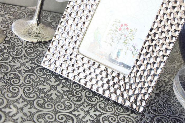 große orientalische Kommode Oriental silber & schwarz