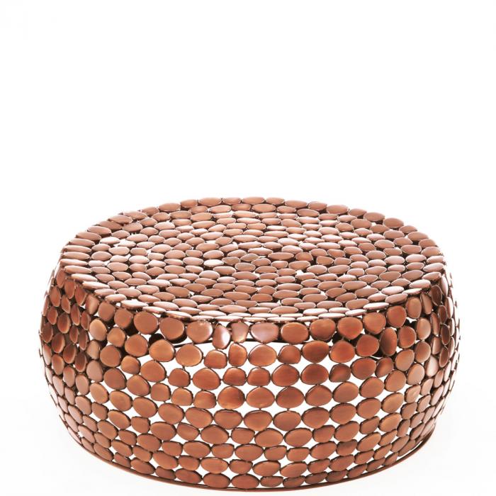 Moderner Couchtisch Aus Kupfer Mit Steindesign