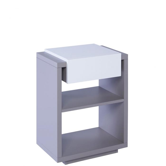 Wundervoll Moderner Beistelltisch Oder Nachttisch Zürich Matt Grau U0026 Weiß Mit Einer  Lade