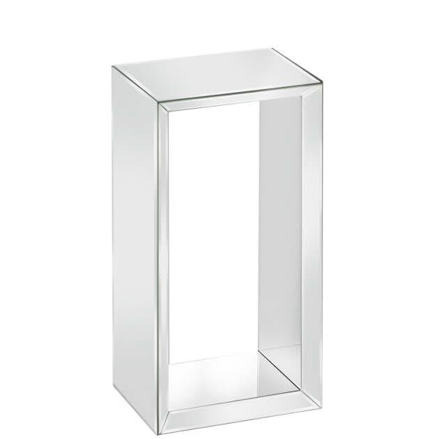 Rechteckiges Wandregal Schweberegal Aus Verspiegeltem Glas