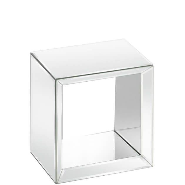 Quadratisches Wandregal Schweberegal Aus Verspiegeltem Glas