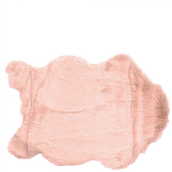 Kuschelig Weiches Kunstfell Teppich Oder überwurf Für Sessel Rosa