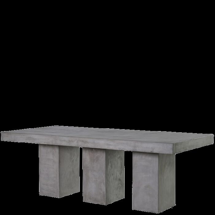 Moderner Massiver Esstisch In Beton Optik Grau
