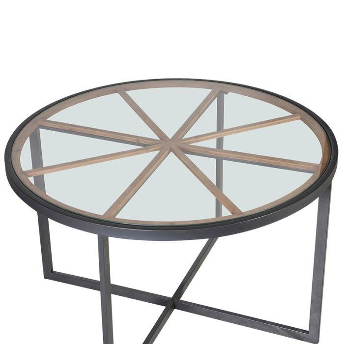 Runder Tisch Metallgestell.Runder Esstisch Mit Metallgestell Und Glasplatte