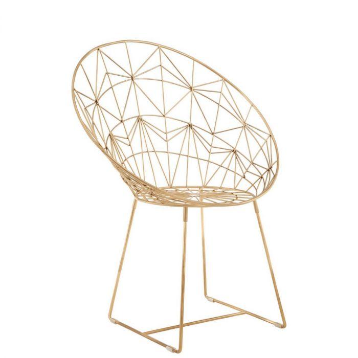 Sessel Gold Geometrischem Muster Mit MetallModerner Gerundeter Aus Goldener Stuhl Trendiger Matt eIEDWHY29