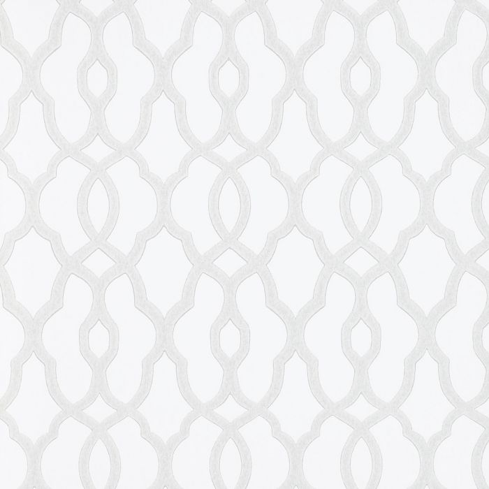 tapete mit kleinem trellis muster vliestapete mit marokkanischem muster wei silber - Vliestapete Muster