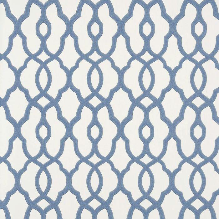 Tapete Mit Kleinem Trellis Muster Vliestapete Mit Marokkanischem Muster Blau