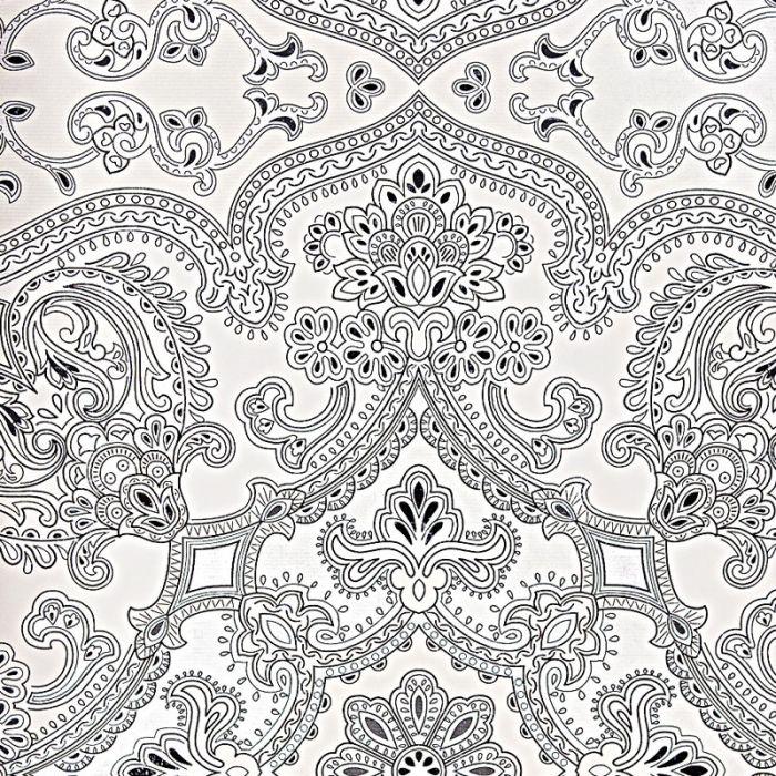 tapete mit orientalischem muster reflektierende vliestapete schwarz wei - Tapete Schwarz Weis Muster