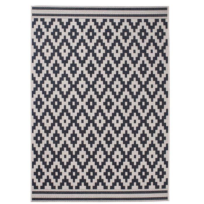 Wohnzimmer Teppich Ethno Muster Beige Rug24