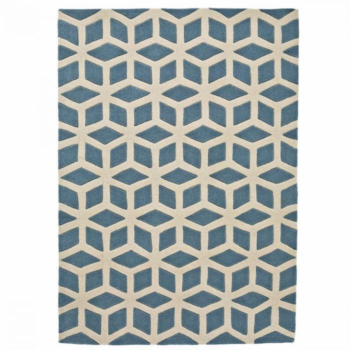 Handgetufteter Teppich Aus Acrylstoff Mit Spannendem Geometrischen
