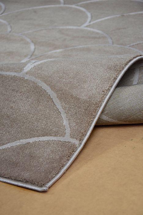 b1f17adfc6 weicher Kunstfaser-Teppich mit Tropfen-Muster, beige