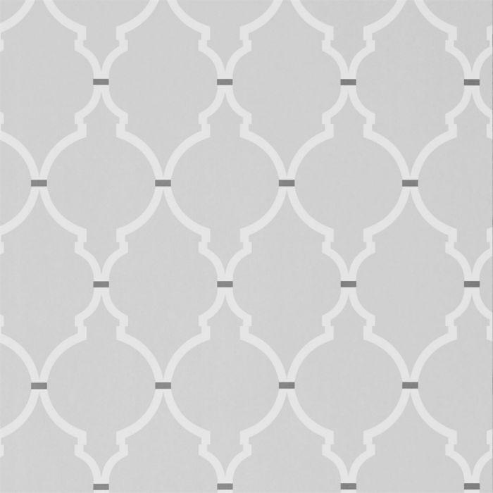 tpvr143 tapete mit geometrischem trellis muster in zartem grau mit weissem muster 1 c - Tapete Muster Grau