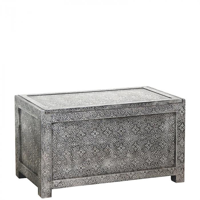 Orientalische Truhe Silber Schwarz