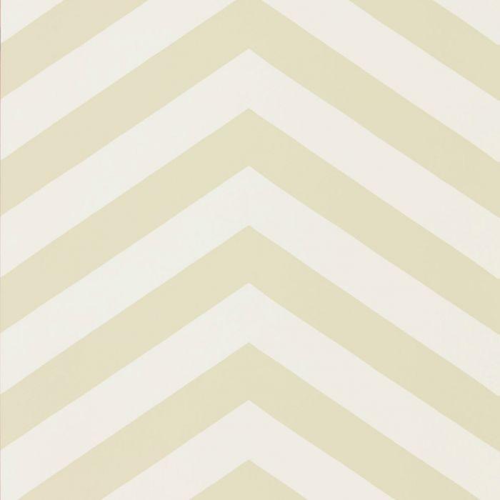 Tapete Im Zickzack Muster In Den Farben Weiß Und Beige