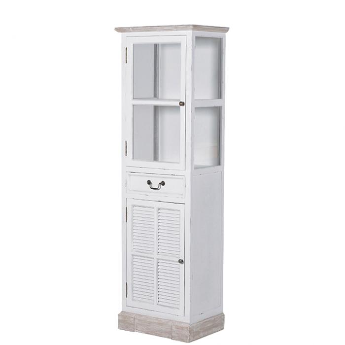 Weiße Vitrine Shabby Style Im Landhausstil Mit Einer Lade