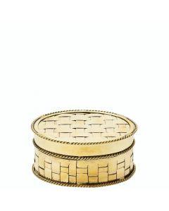 Lisbeth Dahl Dose aus geflochtenem Metall gold