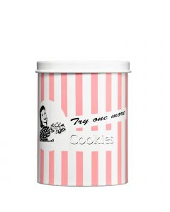 Retro Vorratsdose für Kekse Keksdose rosa gestreift