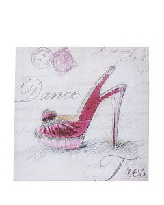 kleines Wandbild auf Leinwand pink Heel