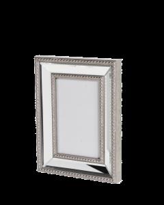 eleganter Spiegelbilderrahmen Bilderrahmen mit Spiegelrahmen silber
