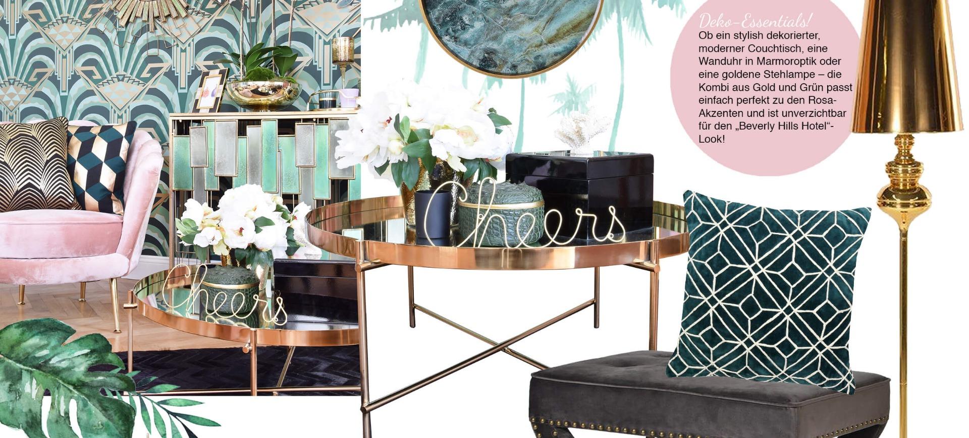 Beverly Hills Hotel-Lounge Wohnzimmer - Looks