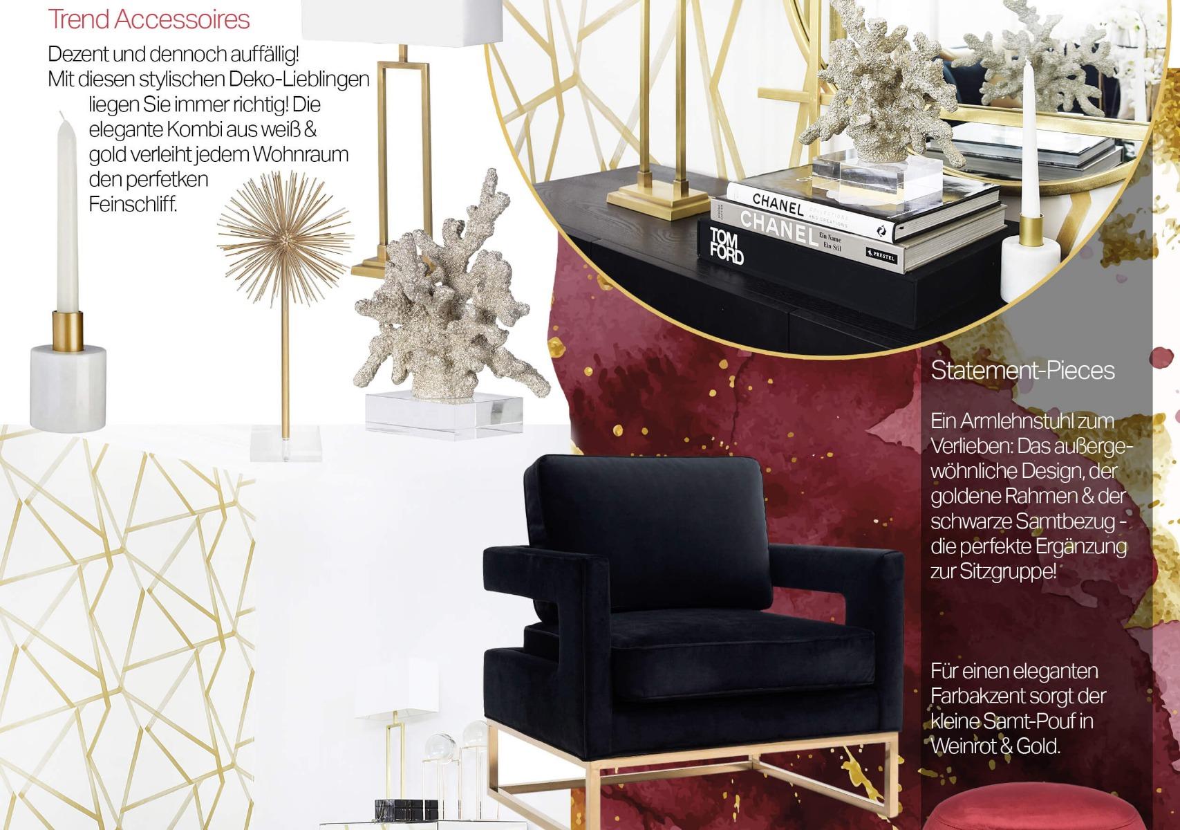 Black Velvet - Wohnzimmer in schwarzem Samt - Looks