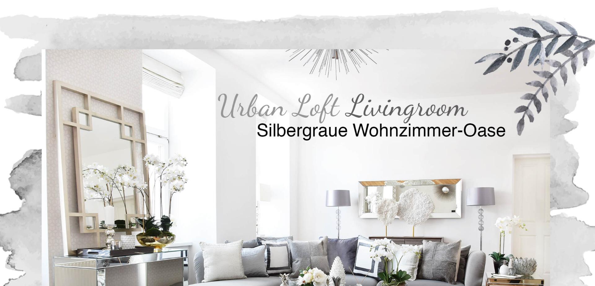wohnzimmer silber, urban loft livingroom - wohnzimmer in silber & grau - looks, Design ideen