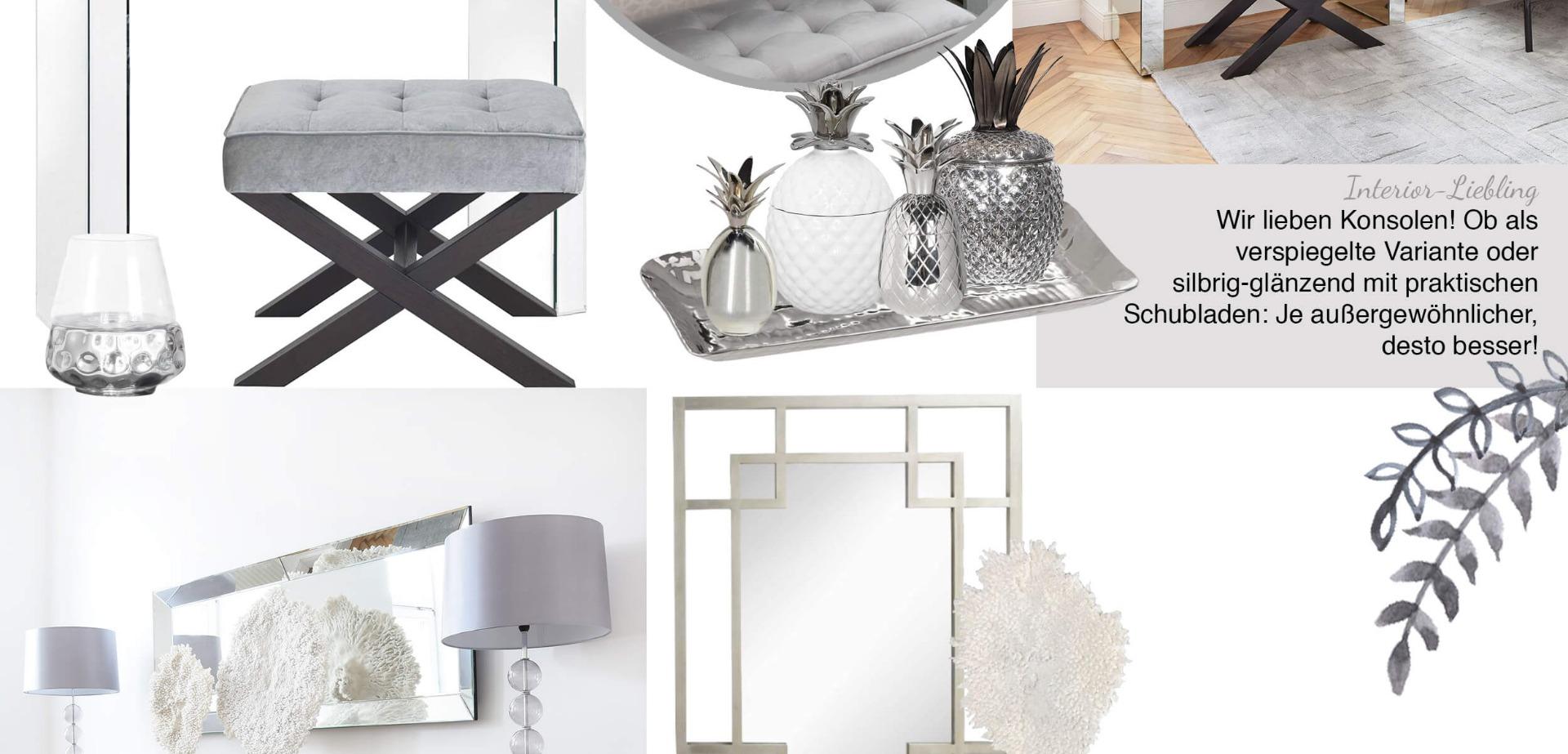 Urban Loft Livingroom - Wohnzimmer in Silber & Grau - Looks