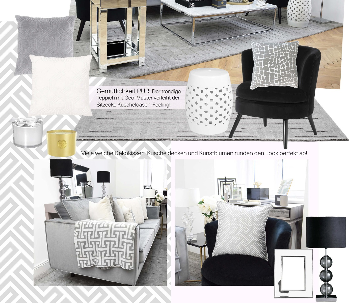 velvet love wohnzimmer looks. Black Bedroom Furniture Sets. Home Design Ideas
